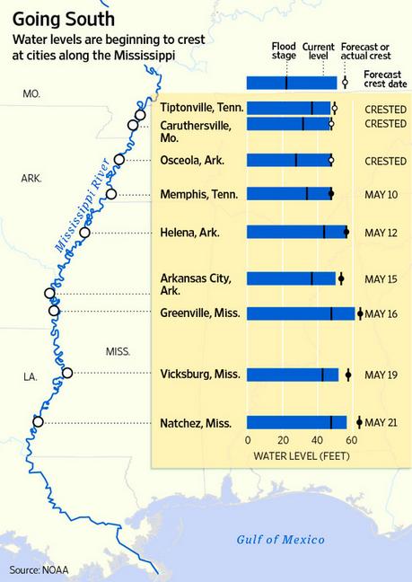 20110510_ミシシッピ川周辺都市の現在・予測水位.png